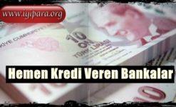 2019 – 2020 Hemen Kredi Veren Bankalar